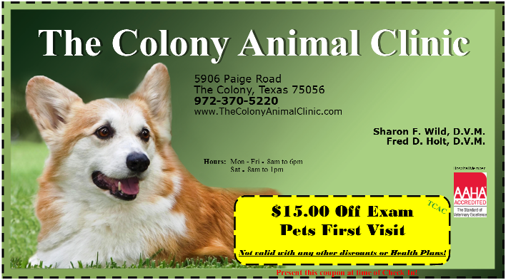 The Colony Animal Clinic  Coupon The Colony TX
